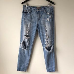 Joe's Billie Ankle Boyfriend Distressed Jeans